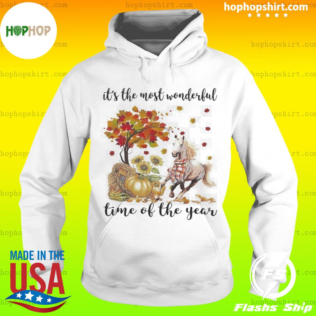 It's The Most Wonderful Time Of The Year Horse Pumpkin Autumn Halloween s Hoodie