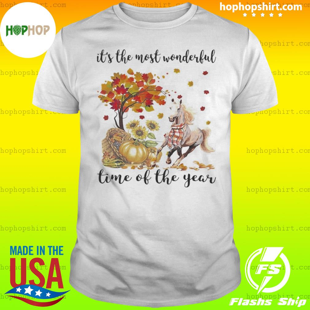 It's The Most Wonderful Time Of The Year Horse Pumpkin Autumn Halloween shirt