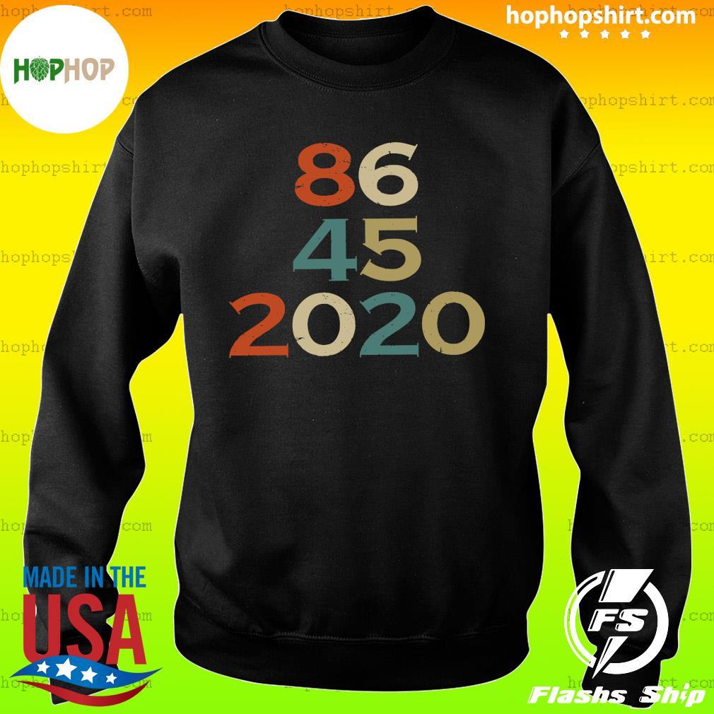 Official 86 45 2020 Anti Trump 8645 Dump Trump Vintage Shirt Sweater