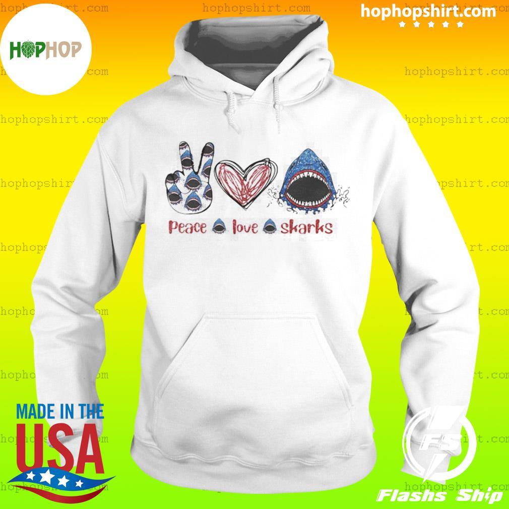 Peace Love Sharks Hippie Heart Sharks s Hoodie
