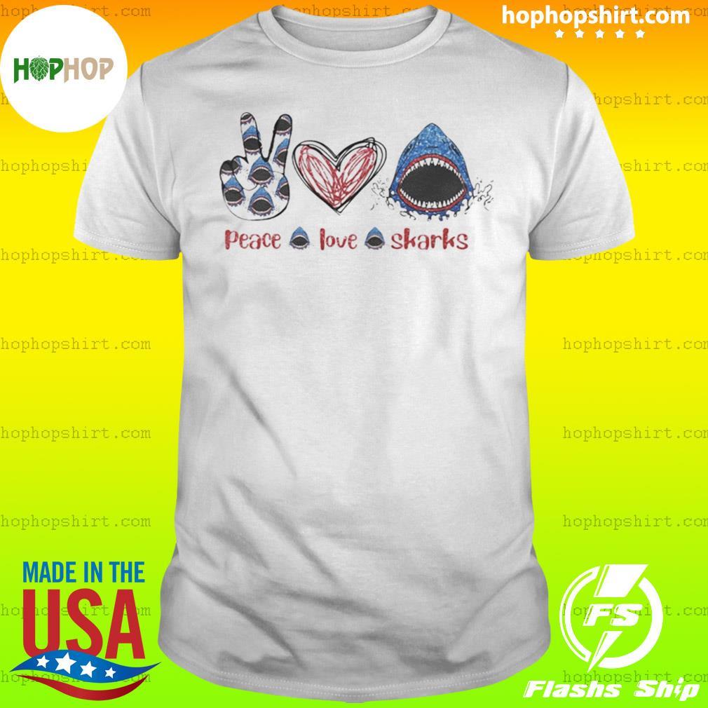 Peace Love Sharks Hippie Heart Sharks shirt