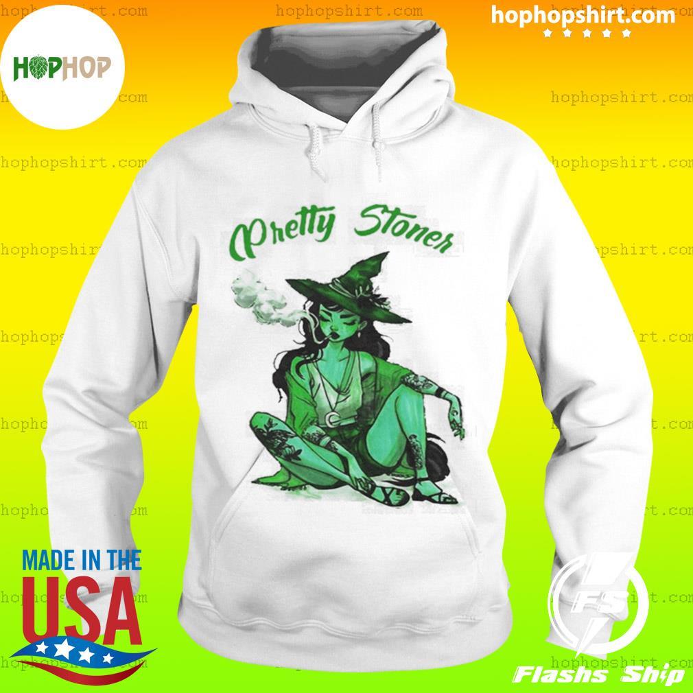 Pretty Stoner Witch Weed Halloween Shirt Hoodie