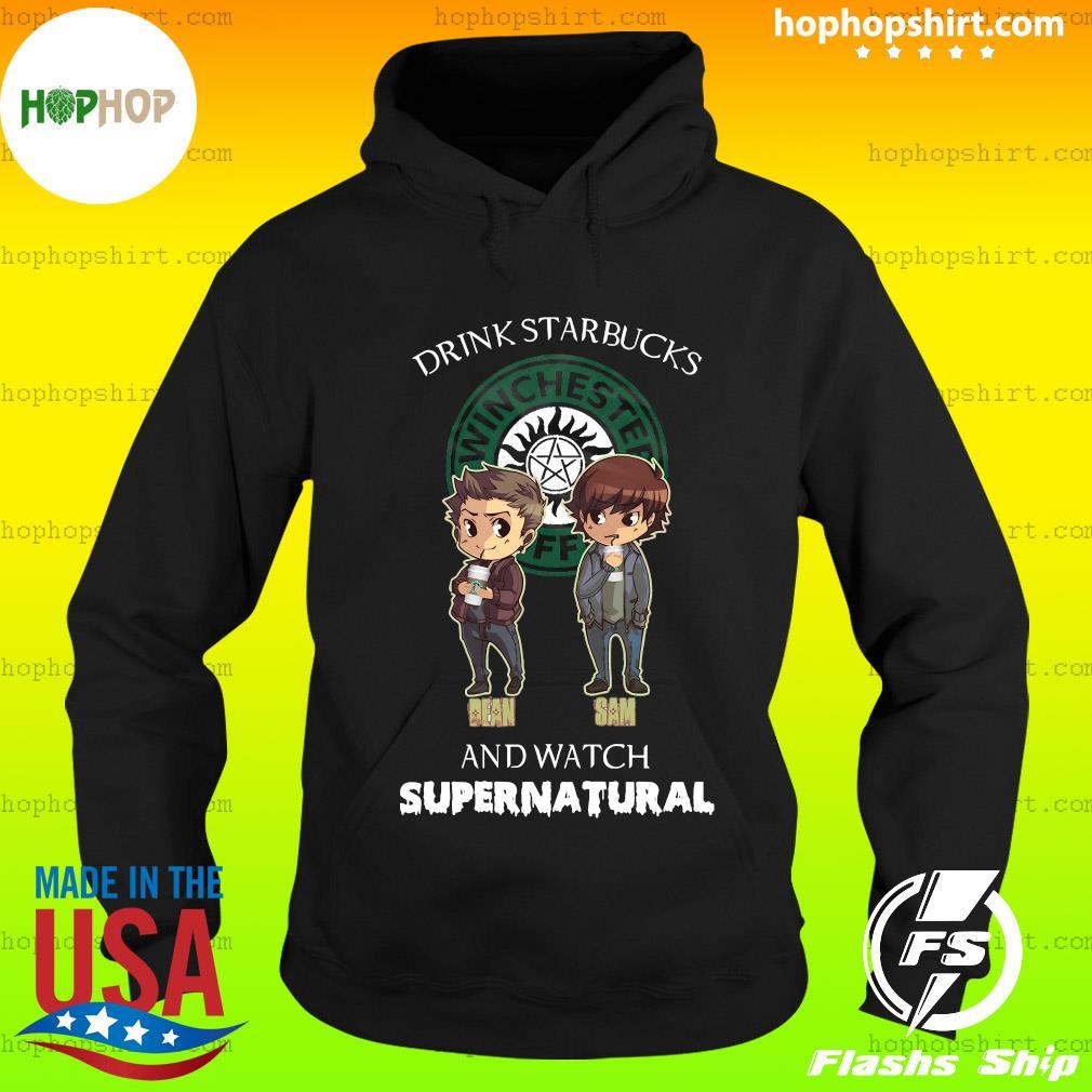 Drink Starbucks And Watch Supernatural Shirt Hoodie