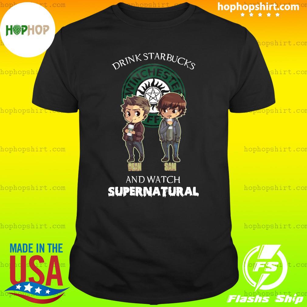 Drink Starbucks And Watch Supernatural Shirt