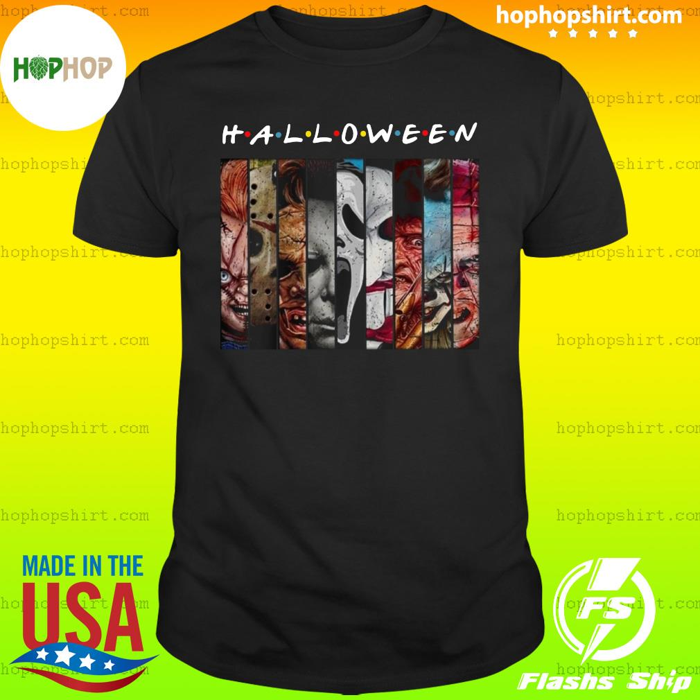 Characters From Halloween 2020 Friends TV show horror characters movies Halloween 2020 shirt