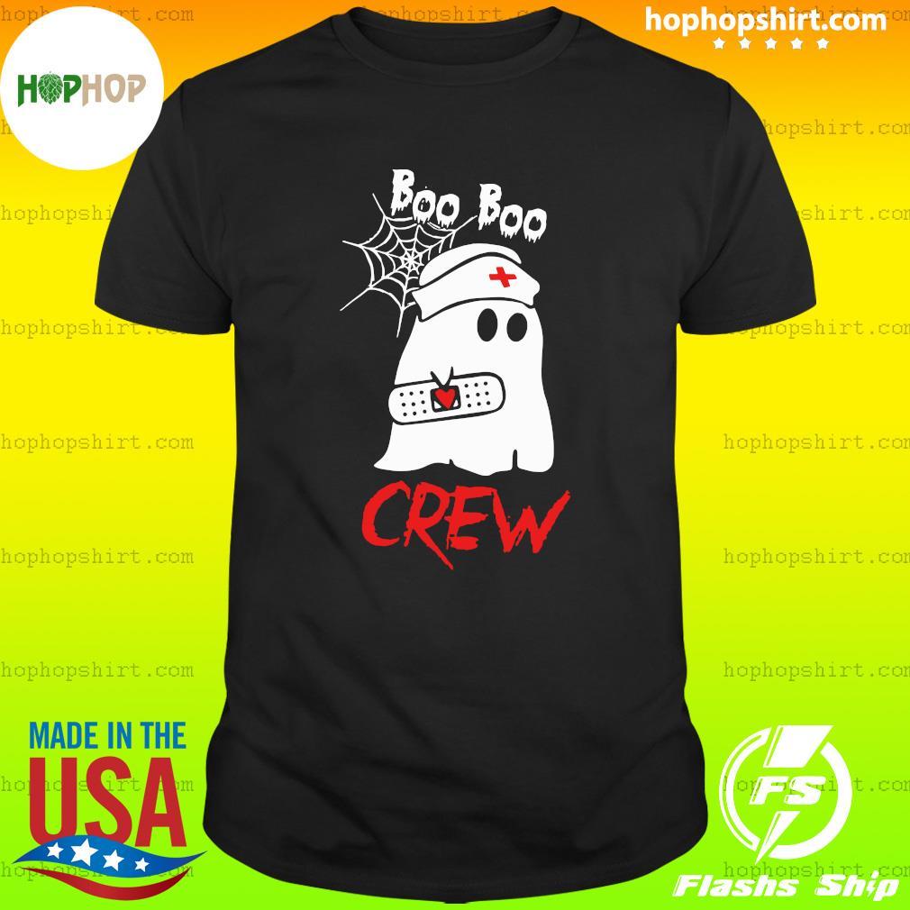 Funny Boo Boo Crew Nurse Halloween T-Shirt