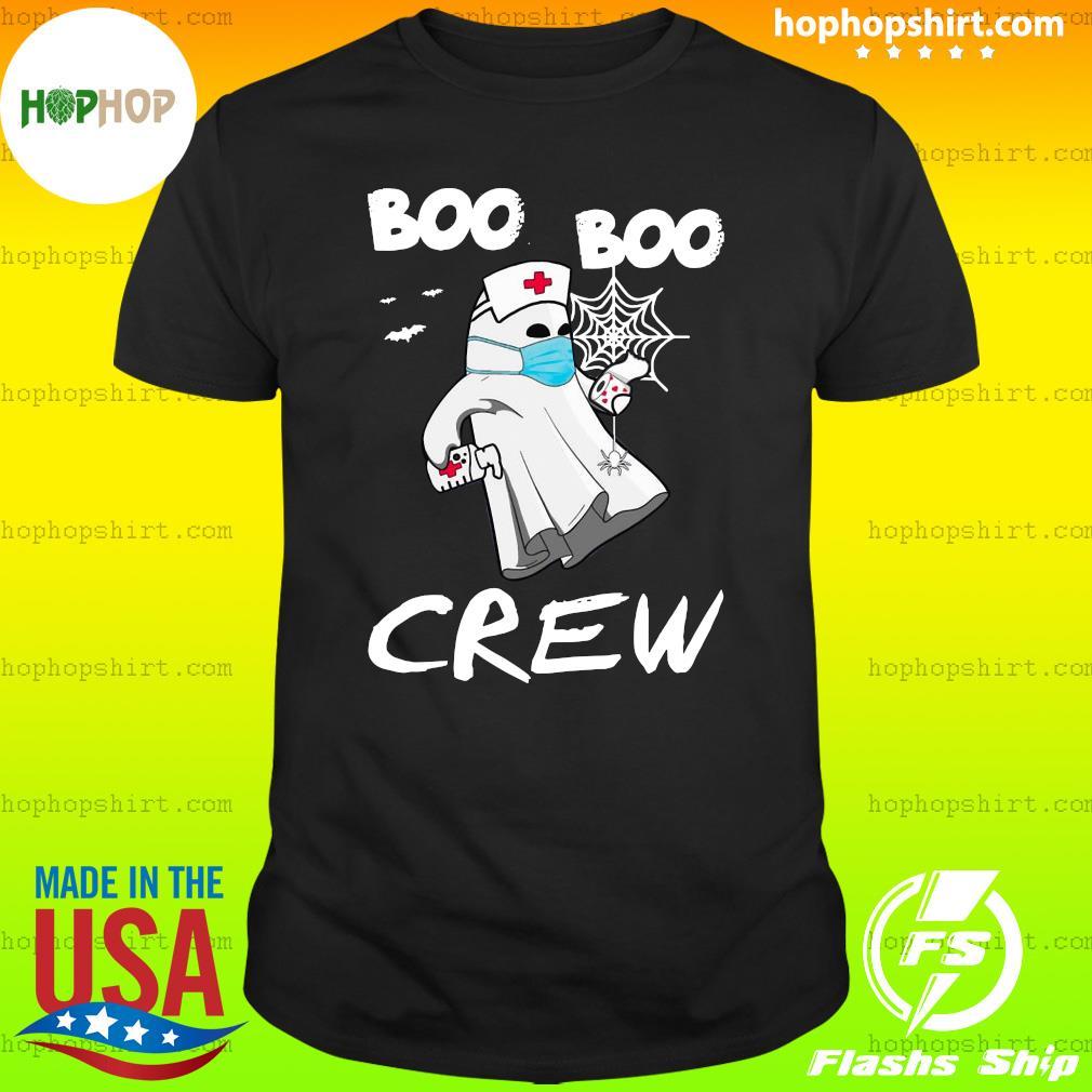 Funny Nurse Halloween Boo Boo crew, ghost holding toilet paper halloween shirt