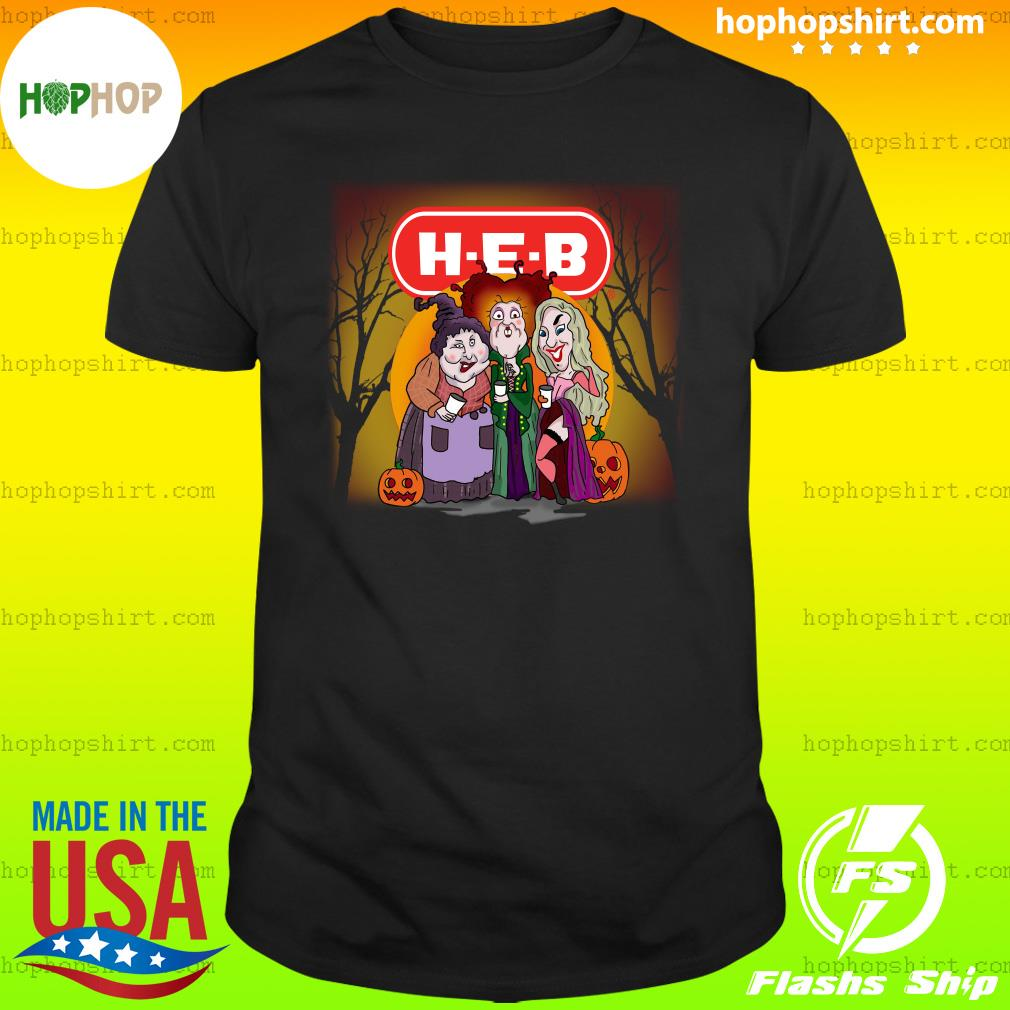 Hocus Pocus Sanderson Sisters H-E-B Halloween pumpkin shirt