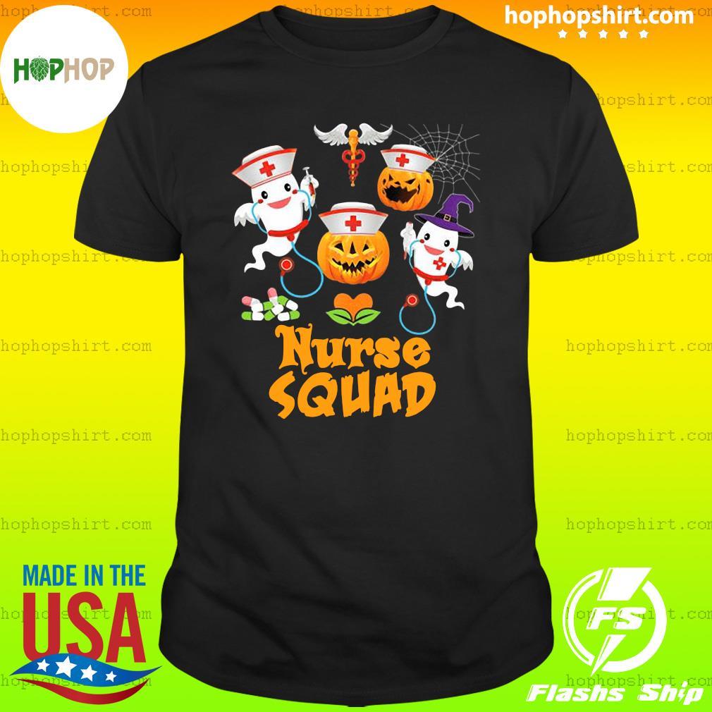 Nurse Squad Team Crew Cute Pumpkin Ghost Witch Boo Halloween Fall Witch, Boo Boo Crew Cute Nurse Ghost Halloween Nursing Shirt