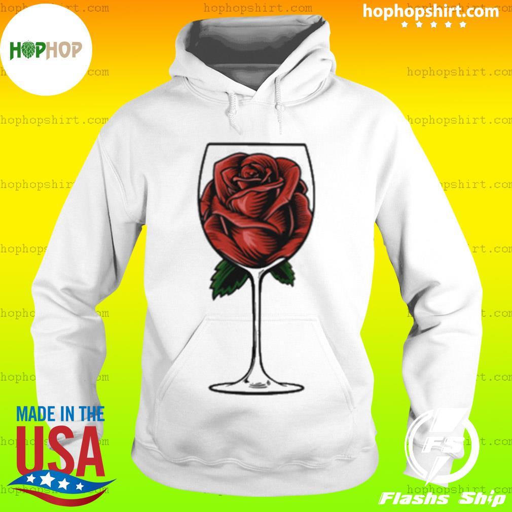 Rose Wine Glass s Hoodie
