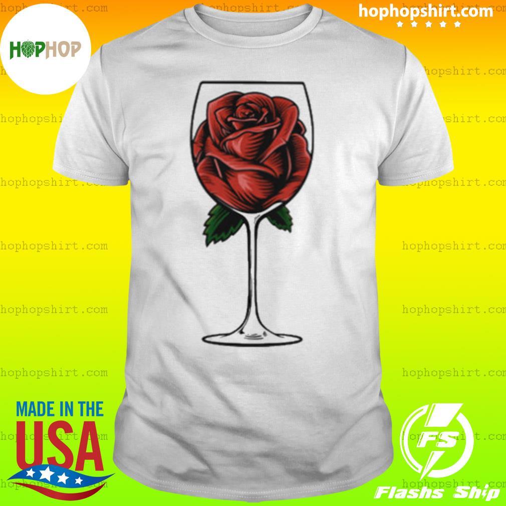 Rose Wine Glass shirt
