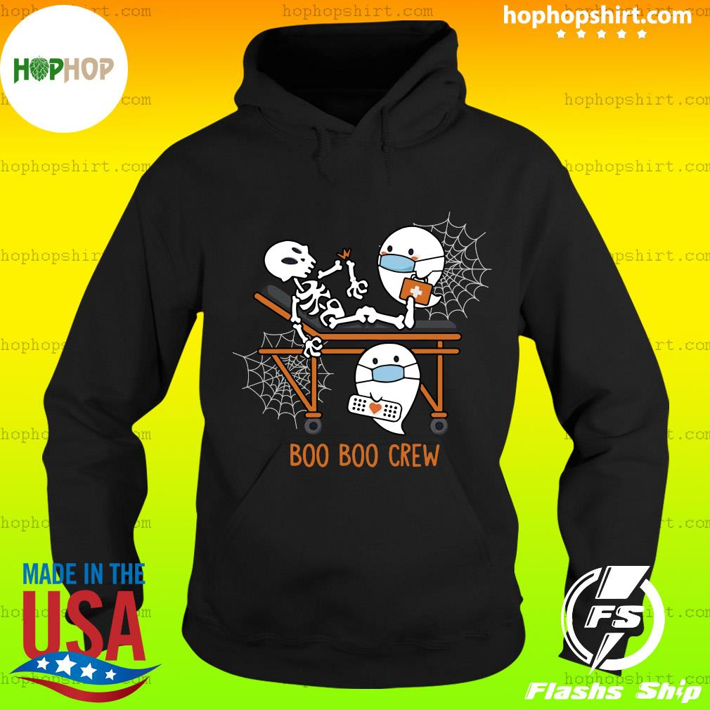 Skeleton Ghost Boo Boo Crew nurse doctor halloween s Hoodie