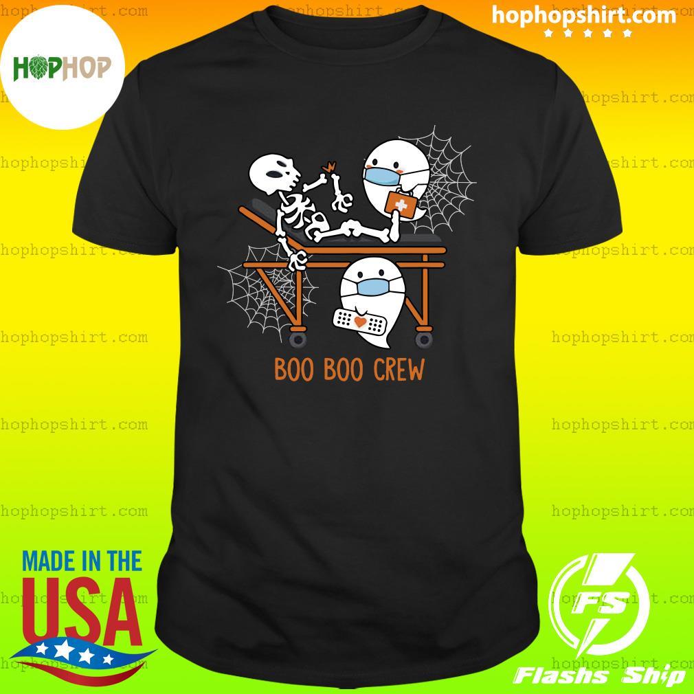 Skeleton Ghost Boo Boo Crew nurse doctor halloween shirt