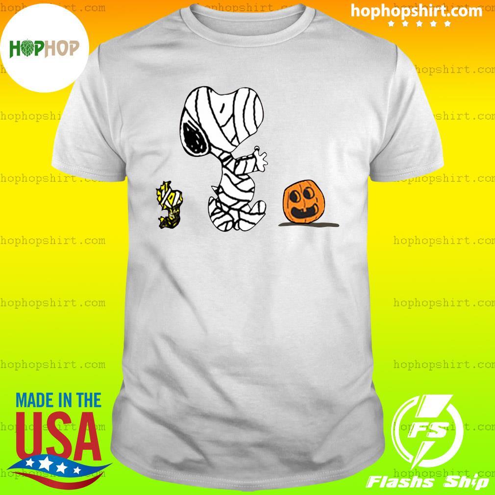 Snoopy Mummies and Woodstock pumpkin Halloween shirt
