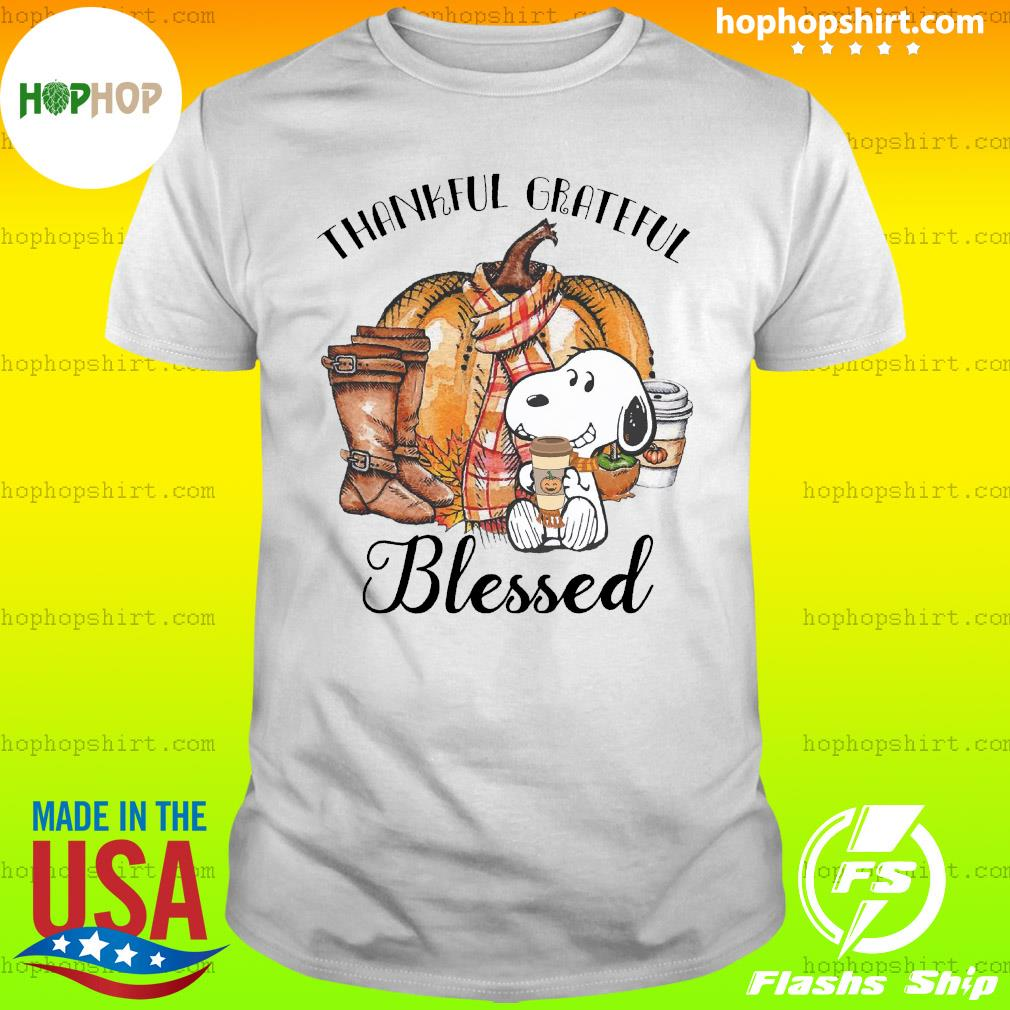Snoopy Thankful Grateful Blessed Shirt