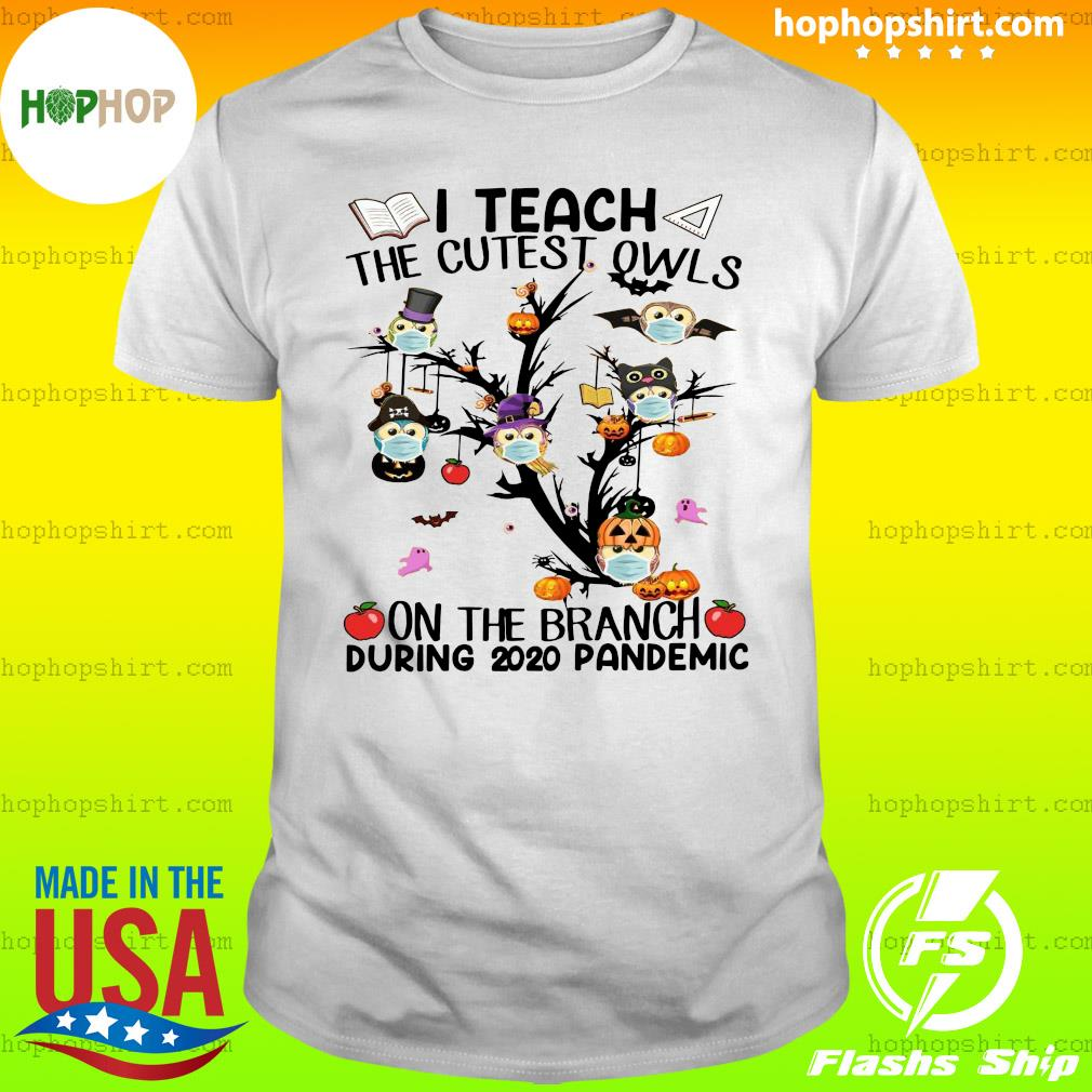 Teacher Teach The Cutest Owls Halloween 2020 School Tree Classic Shirt