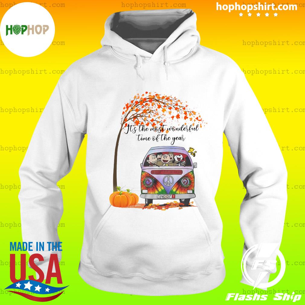 The Charlie Brown And Snoopy It's The Most Wonderful Time Of The Year Halloween Shirt Hoodie
