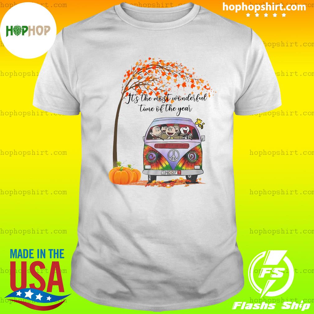 The Charlie Brown And Snoopy It's The Most Wonderful Time Of The Year Halloween Shirt