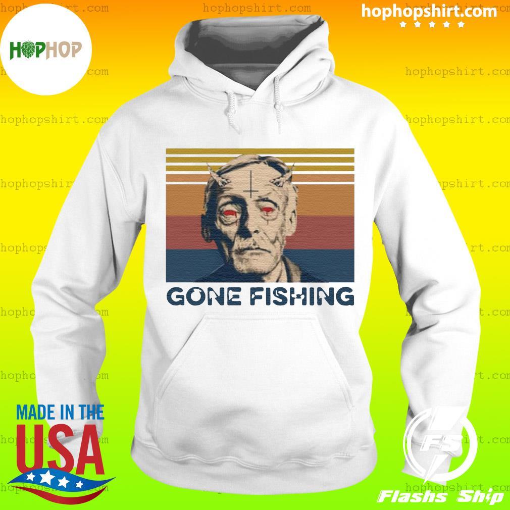 True Crime Gone Fishing Vintage Retro Shirt Hoodie