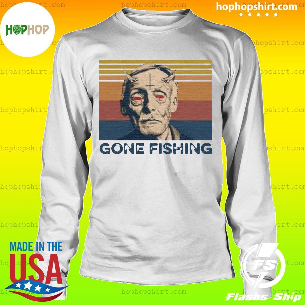 True Crime Gone Fishing Vintage Retro Shirt LongSleeve