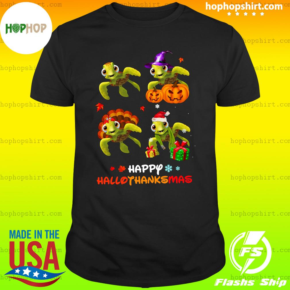 Turtles Happy HalloThanksMas Shirt