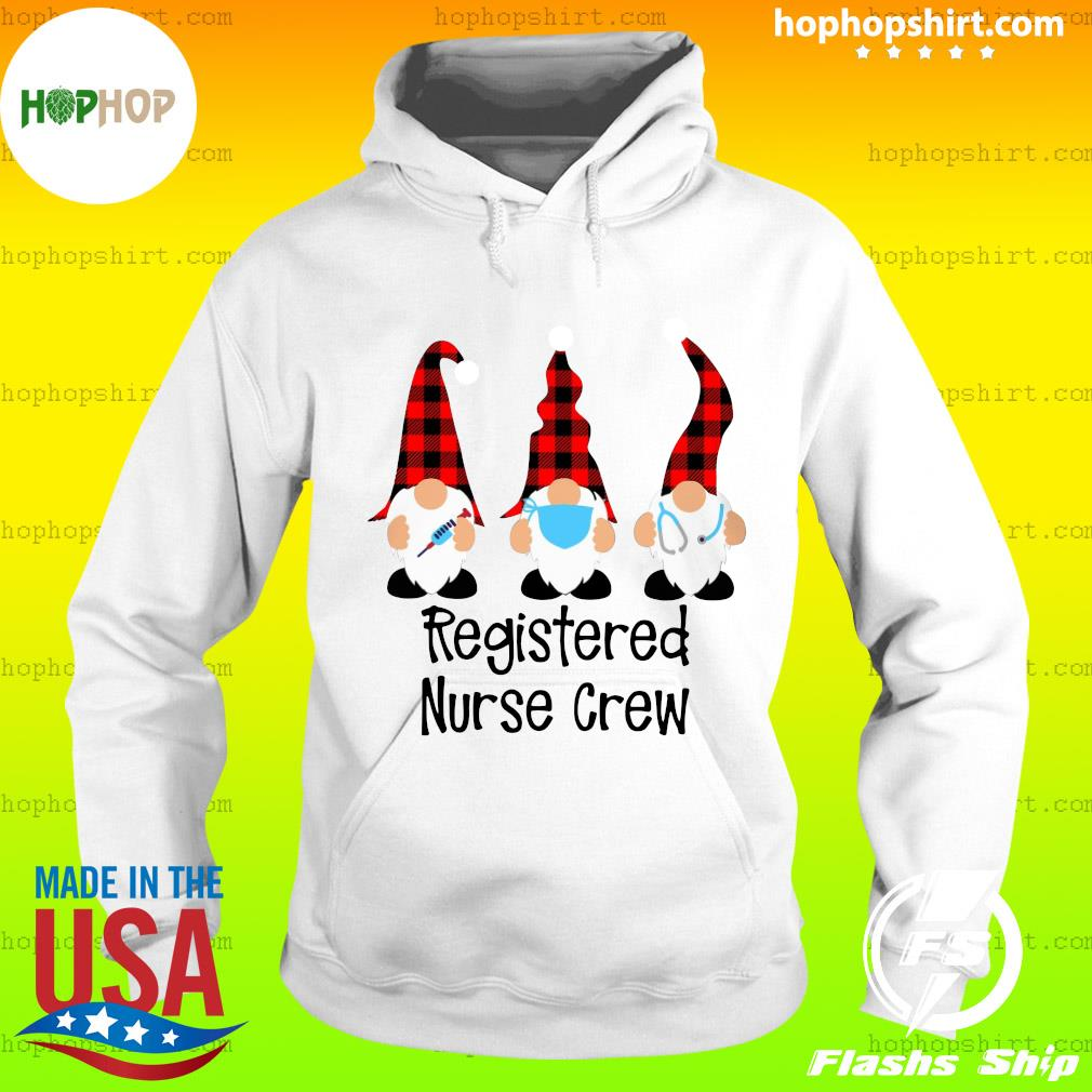 Gnome Nurse Registered Nurse Crew Merry Christmas Sweats Hoodie