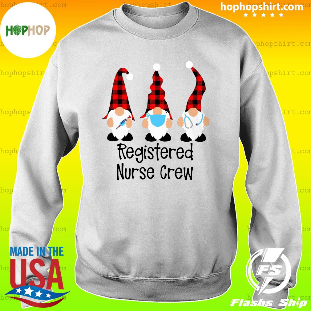 Gnome Nurse Registered Nurse Crew Merry Christmas Sweatshirt