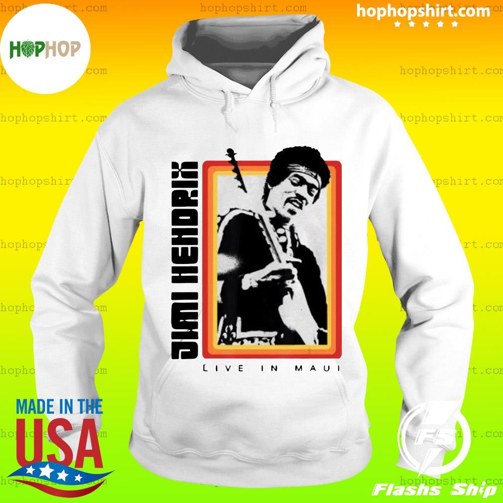 Jimi Hendrix Live in Maui Shirt Hoodie