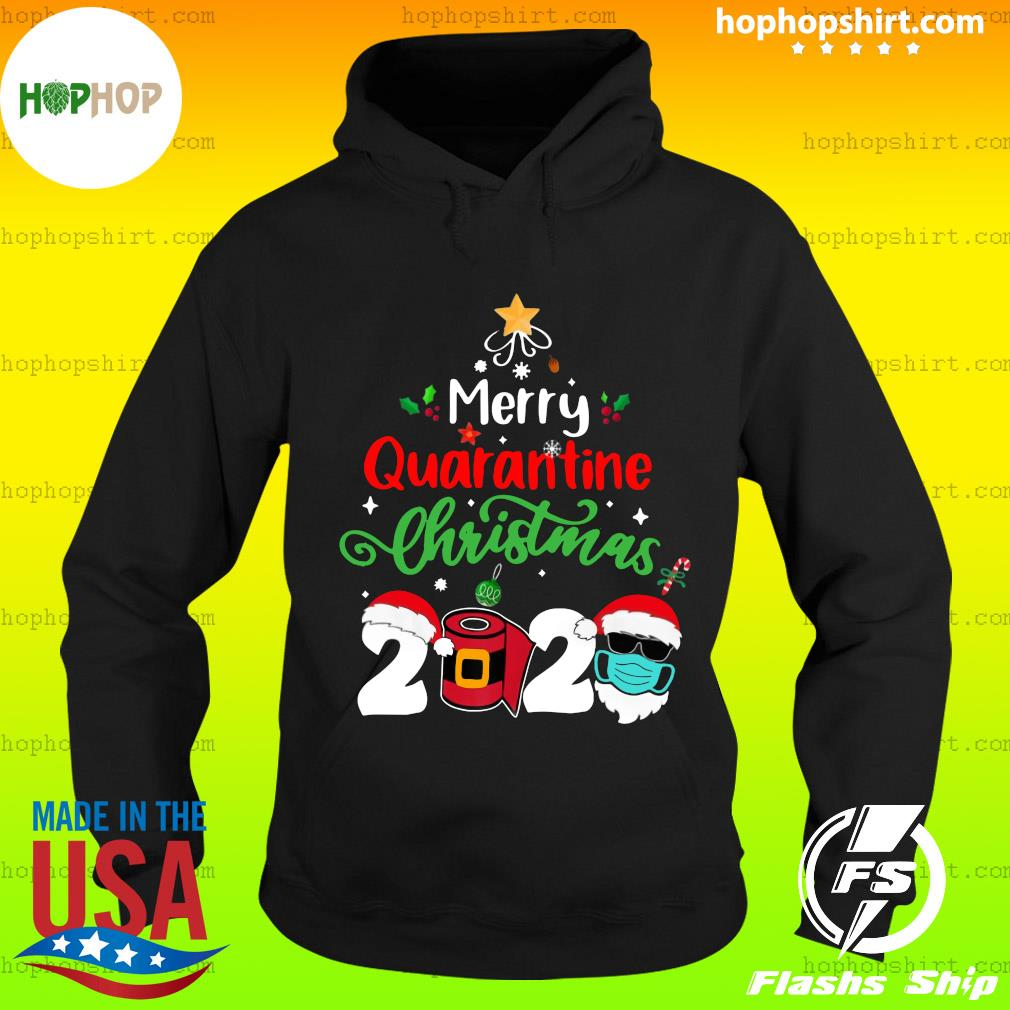 Merry Quarantine Christmas 2020 Toilet Paper Satan Claus Sweats Hoodie