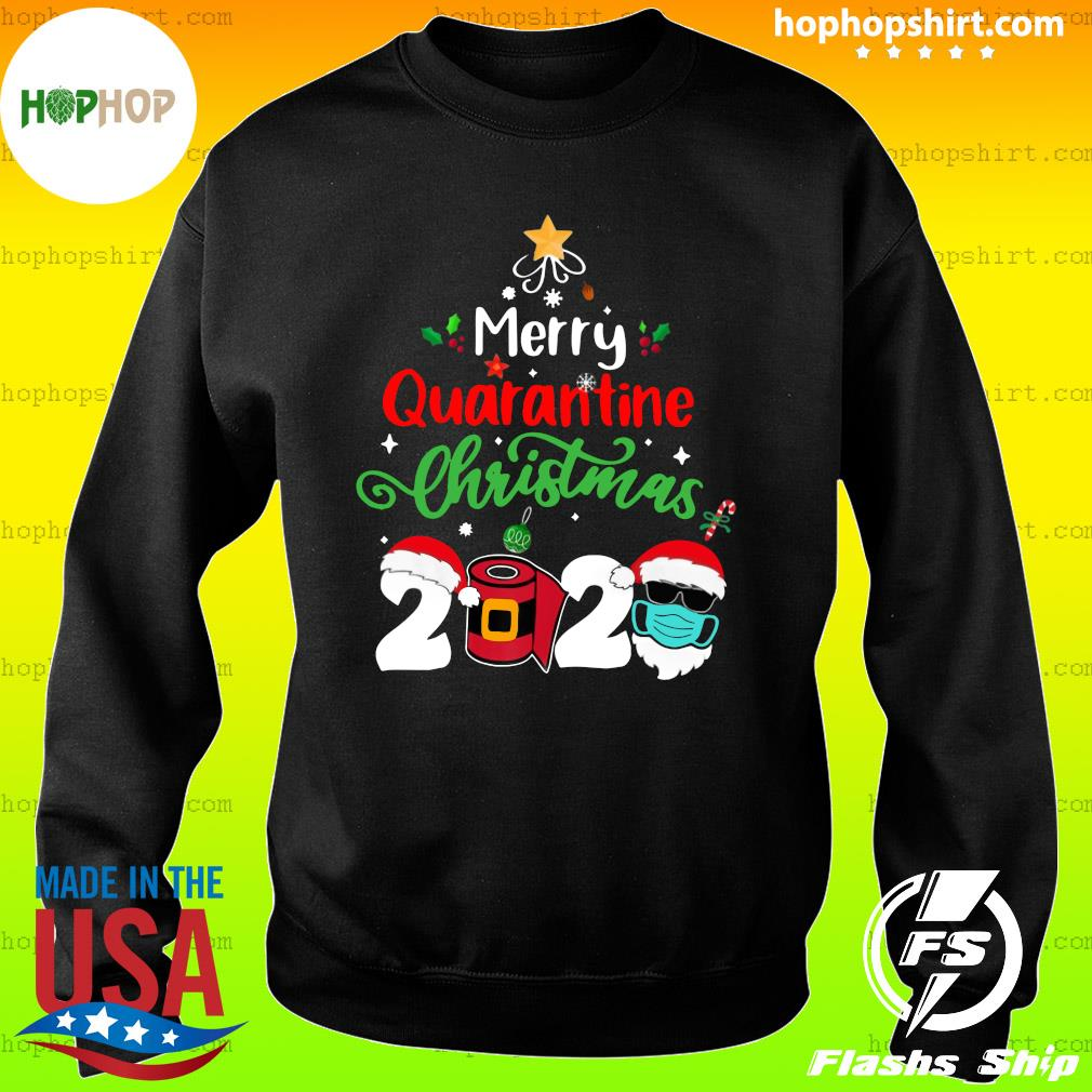 Merry Quarantine Christmas 2020 Toilet Paper Satan Claus Sweatshirt