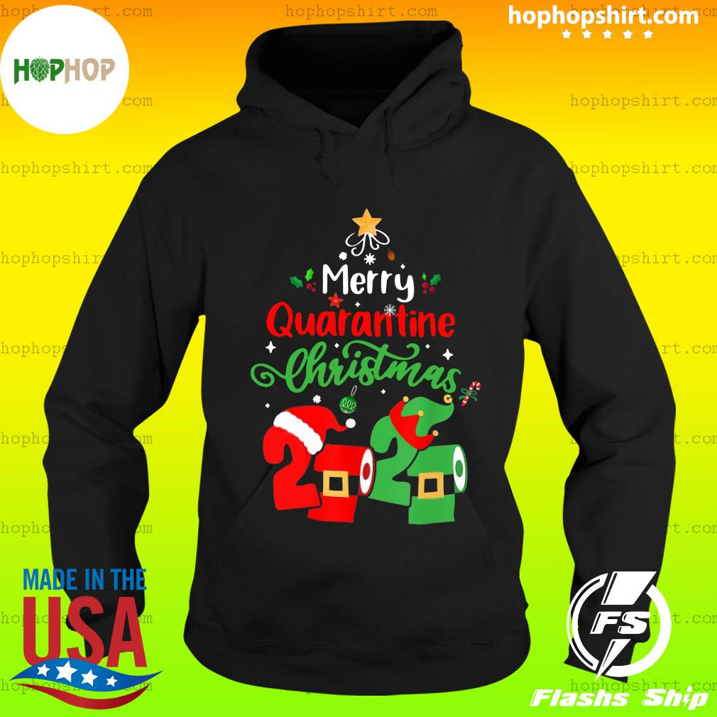 Merry Quarantine Christmas 2020 Toilet Paper Sweats Hoodie