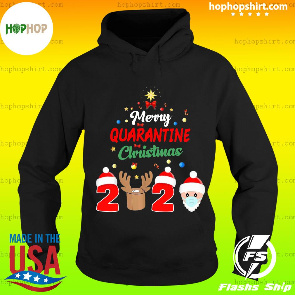 Merry Quarantine Christmas 2020 Xmas Pajamas Holidays Sweats Hoodie