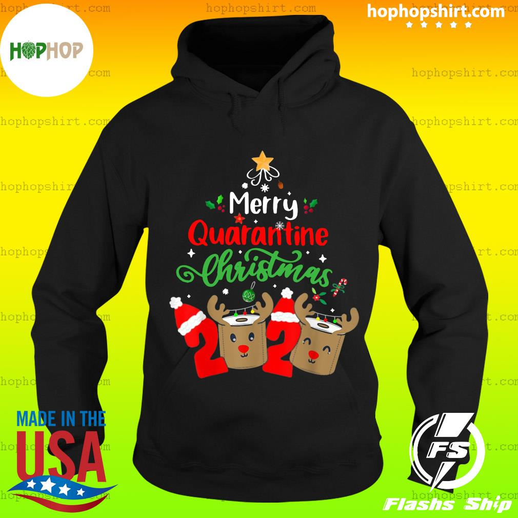 Merry Quarantine Christmas 2020 Xmas Reindeer Toilet Paper Sweats Hoodie