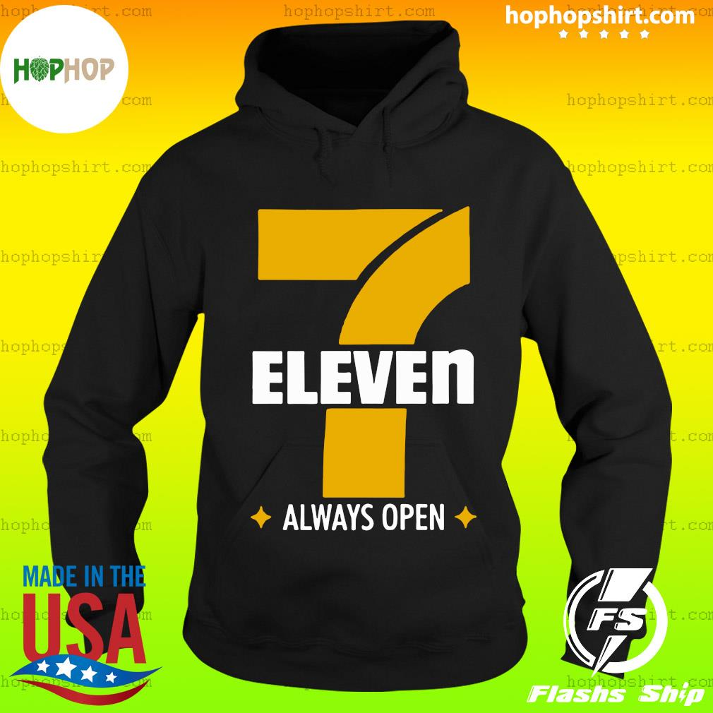 Official 7 Eleven Always Open Shirt Hoodie