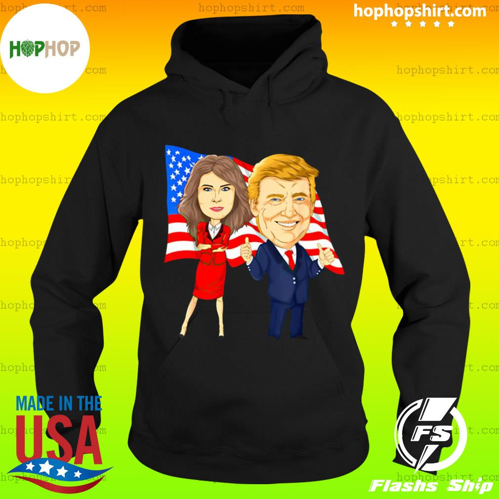 Official Donald Trump And Melania Trump Potus Flotus USA Flag Shirt Hoodie