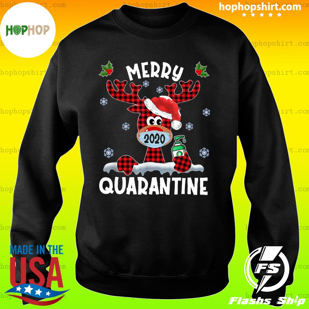 Reindeer Face Mask 2020 Merry Christmas Quarantine Sweatshirt