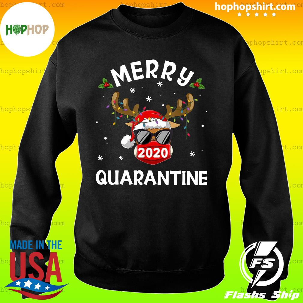 Reindeer Face Mask 2020 Quarantine Merry Christmas Sweatshirt