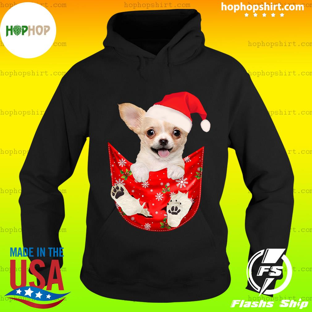 Santa Chihuahua Dog Merry Christmas Sweats Hoodie