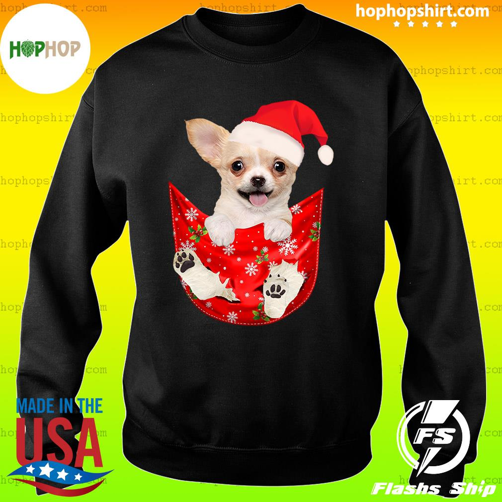 Santa Chihuahua Dog Merry Christmas Sweatshirt