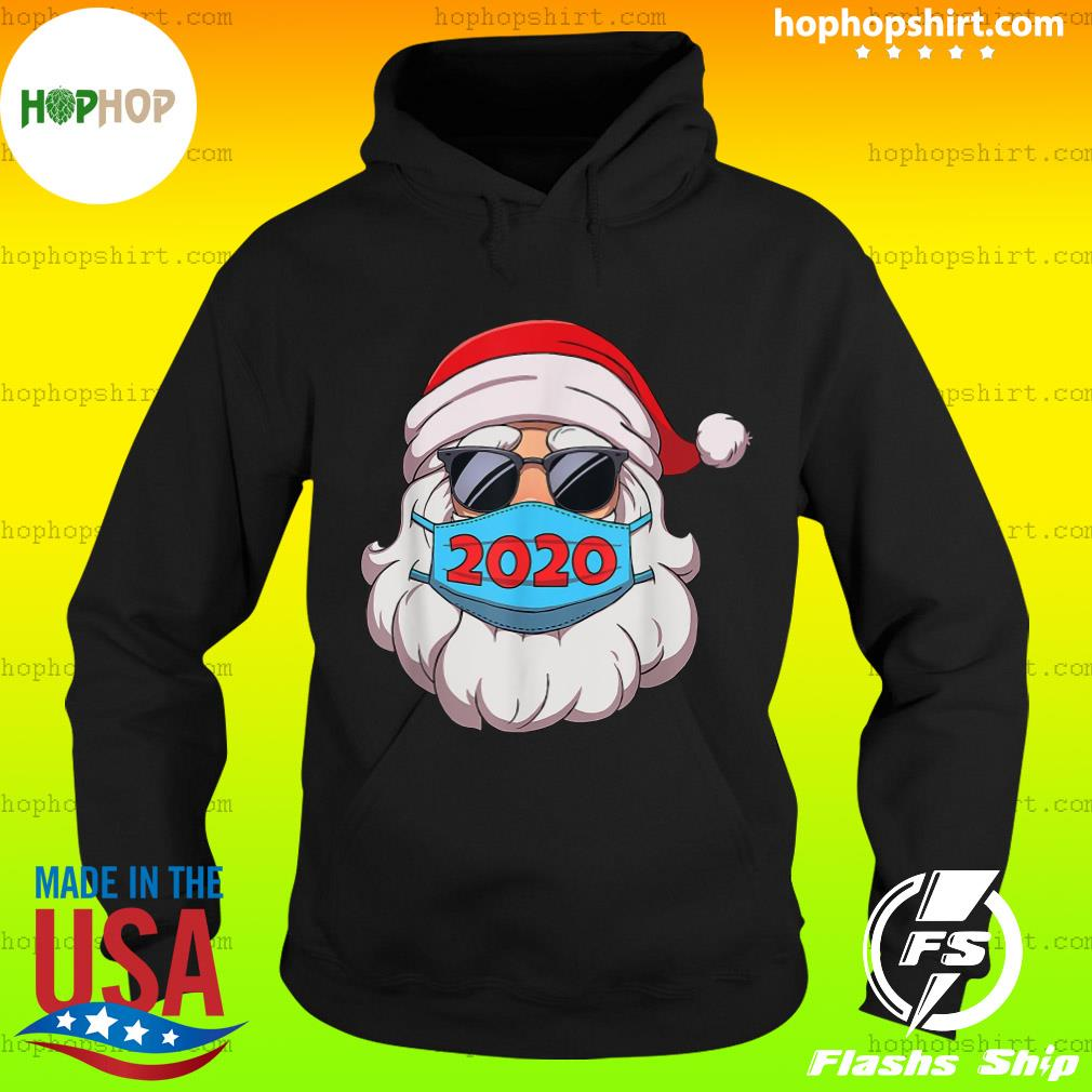 Santa Claus Face Mask Glasses 2020 Sweats Hoodie