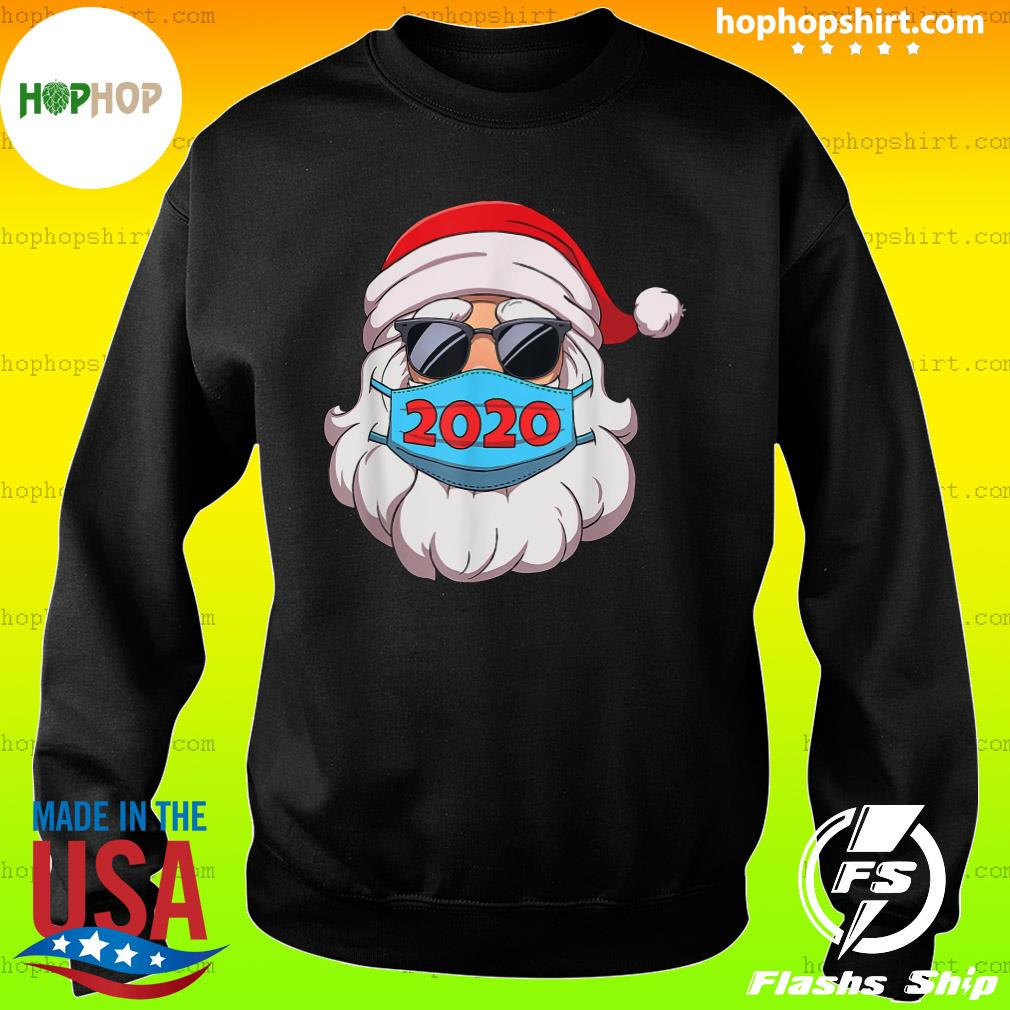 Santa Claus Face Mask Glasses 2020 Sweatshirt