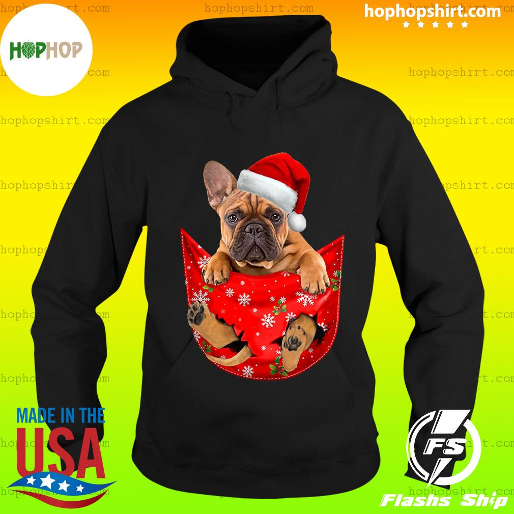 Santa French Bulldog Merry Christmas Sweats Hoodie