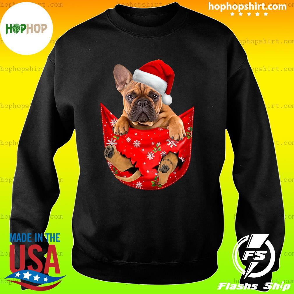Santa French Bulldog Merry Christmas Sweatshirt