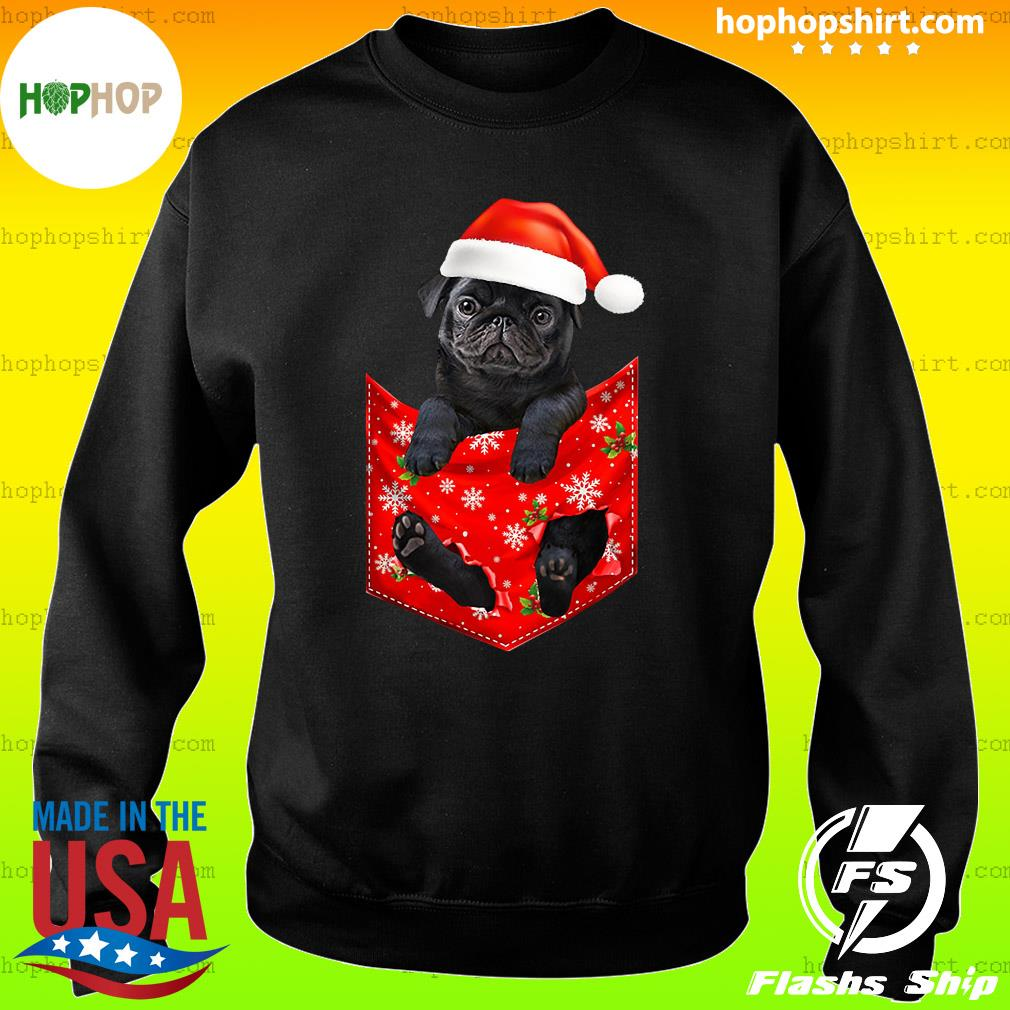 Santa Pug Merry Christmas Sweatshirt