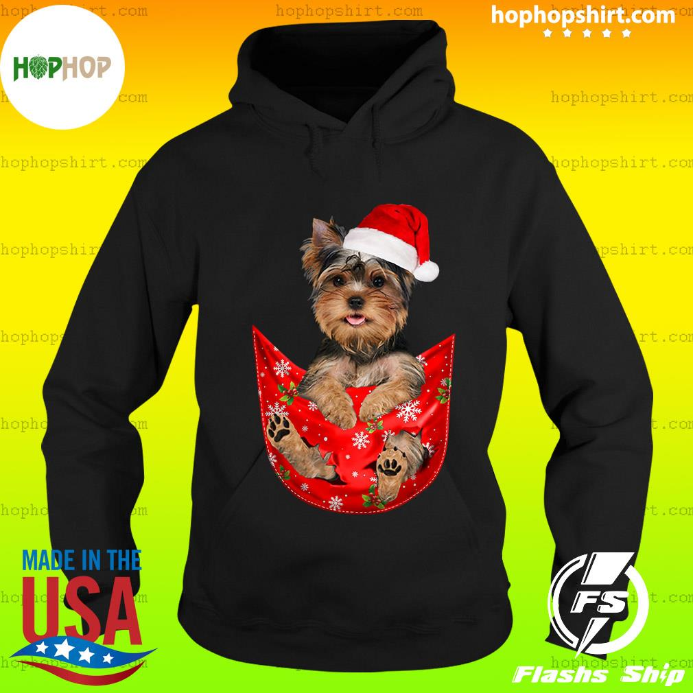 Santa Yorkshire Terrier Merry Christmas Sweats Hoodie