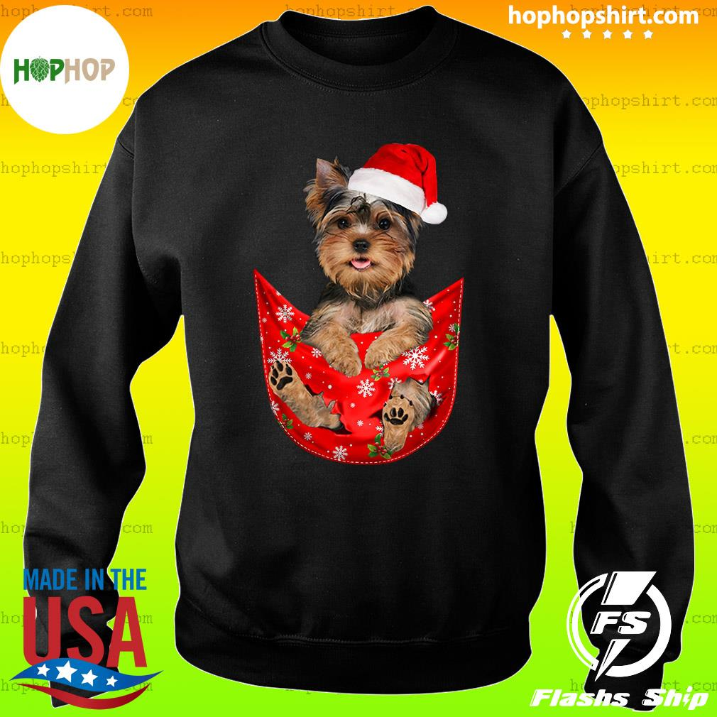 Santa Yorkshire Terrier Merry Christmas Sweatshirt