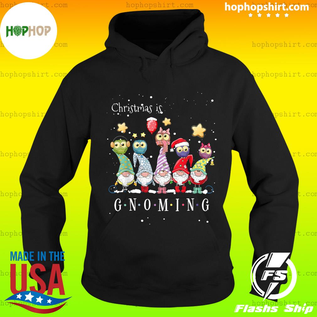 Christmas Is Gnoming With Owl Christmas Sweats Hoodie