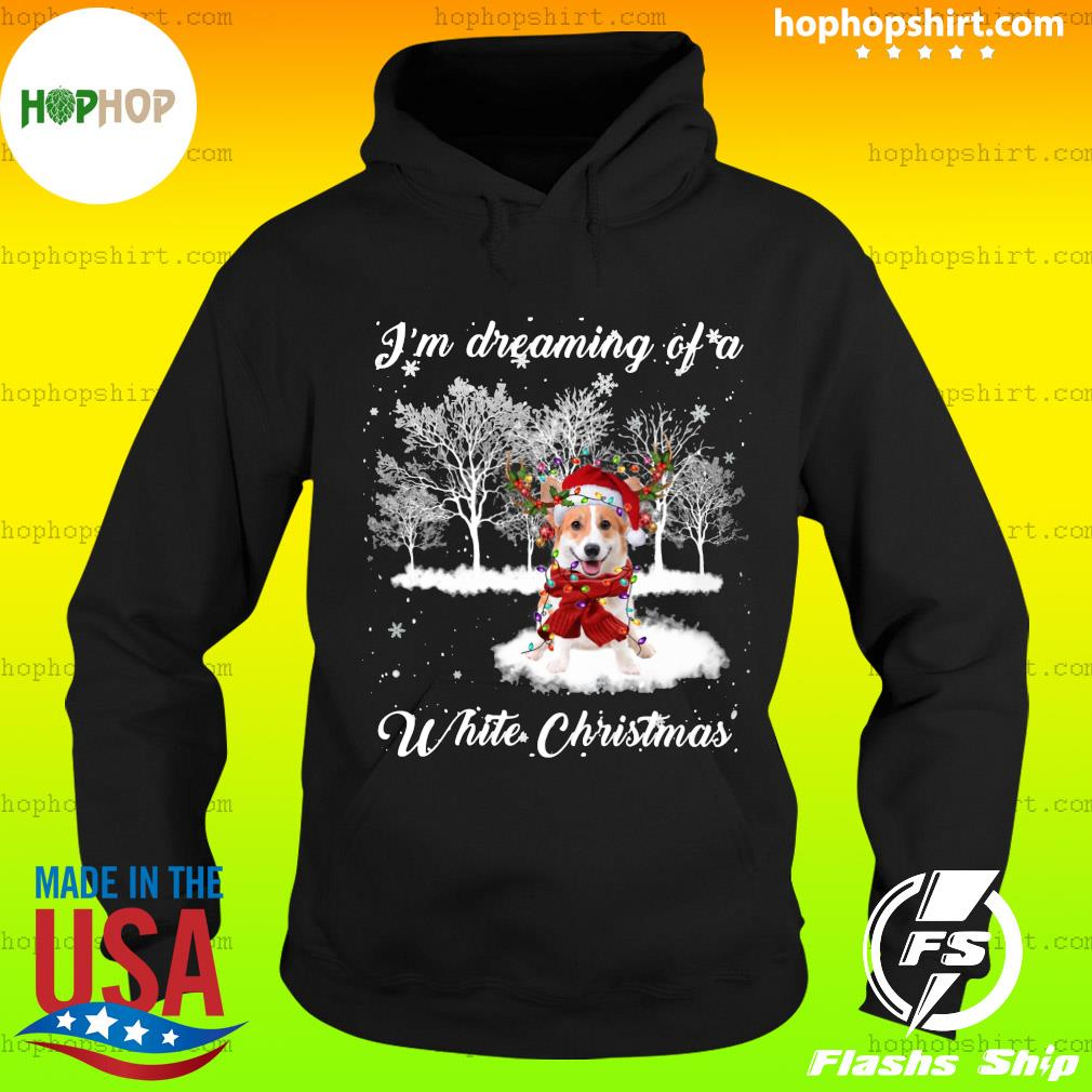 Santa Corgi I'm Dreaming Of A White Christmas Sweats Hoodie