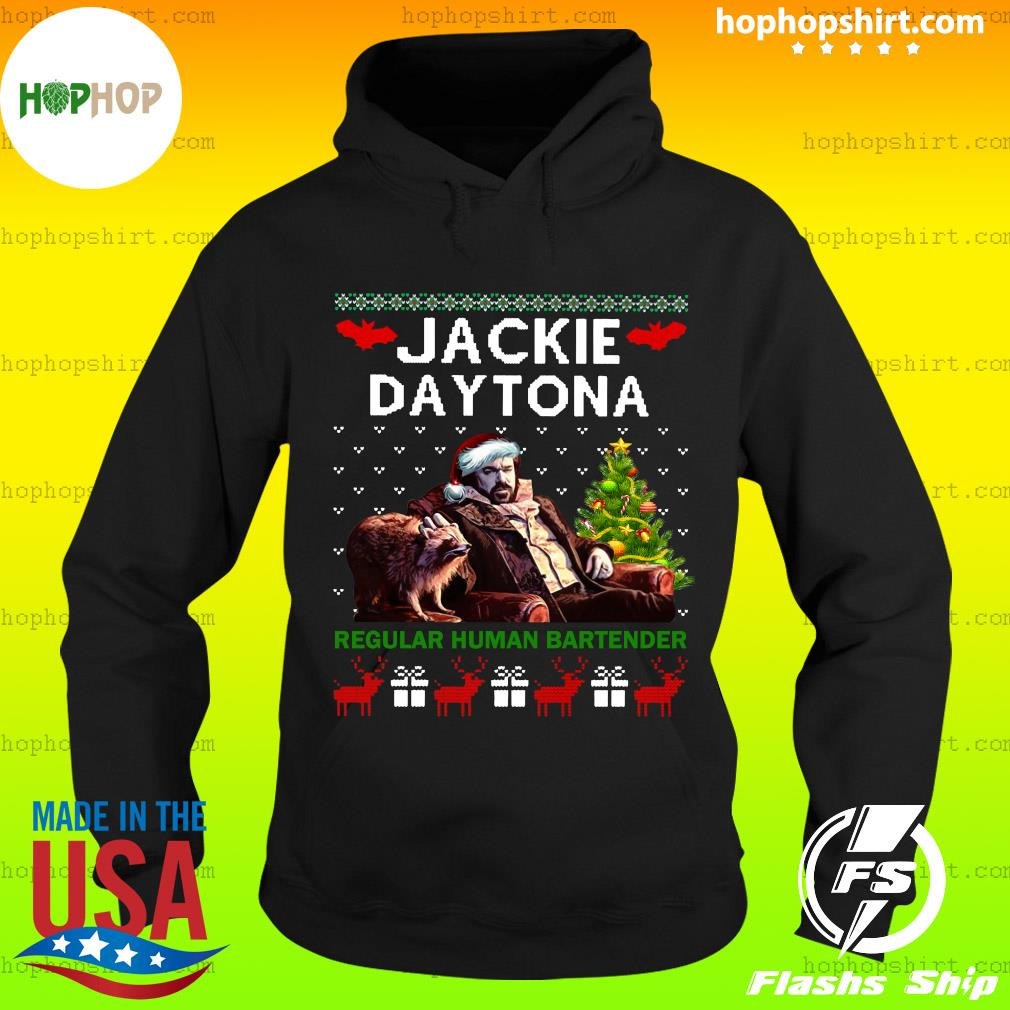 Santa Jackie Daytona Regular Human Bartender Ugly Merry Christmas Sweats Hoodie