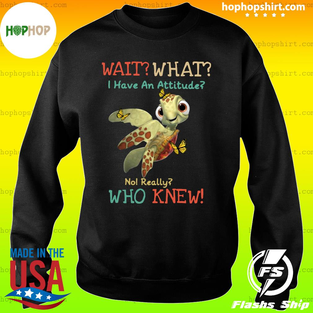 Turtle Wait What I Have An Attitude No Really Who Knew Butterfly Shirt Sweater
